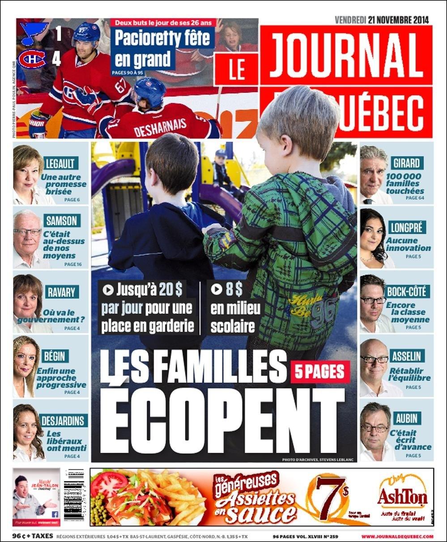 Promesse brisée, pérennité assurée   Le Journal de Montréal